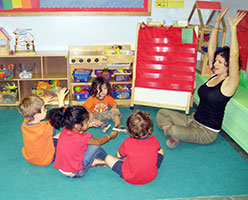 children at a preschool class